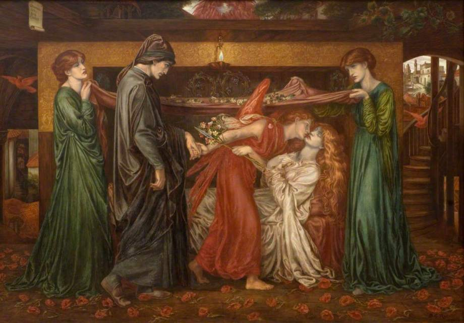 Rossetti, Dante Gabriel, 1828-1882; Dante's Dream on the Day of the Death of Beatrice